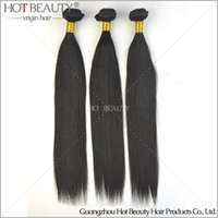 Wholesale Beauty Queen Human Hair - 2016 Hot beauty hair Indian Virgin Hair Straight 3pcs Lot ali queen Human hair extension weft remy