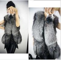 Wholesale Fur Vest Ship - Girls Women Warm Faux Fur Vest Outerwear Coat Jacket waistcoat Tops S-3XL For WOMAN Free Shipping