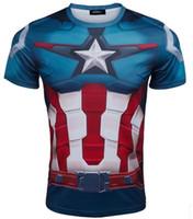 Wholesale Spiderman Cycling Tops - 2015 Top Sales Superhero T shirt Tee Superman Spiderman Batman Avengers Captain America Ironman Cycling Clothing