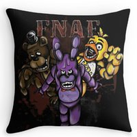 Wholesale 24x24 Pillow Black - Wholesale-Funny Five Nights At Freddies Pillow cases (two sides) for12x12 14x14 16x16 18x18 20x20 24x24 inch Free shipping