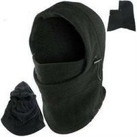 ingrosso maschera esterna del cranio-Hot Winter Outdoor Thermal Warm 6 in 1 Cappuccio Balaclava Police Swat Sci Cappellino Fleece Ski Bike Sciarpa Wind Stopper Ski Mask Cappelli