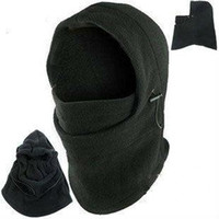 başlık örtüleri toptan satış-Sıcak Kış Açık Termal Sıcak 6 1 Balaclava Hood Polis Swat Kayak Kap Polar Kayak Bisiklet Eşarp Rüzgar Stoper Kayak Maskesi Şapka