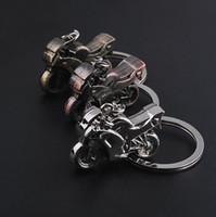 Wholesale Motorcycle Model Motorbike - Wholesale - Classic 3D Simulation Model Motorcycle Motorbike Keychain Key Chain Ring Keyring 0501