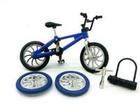 bicicleta dhl al por mayor-DHL Aleación Bicicletas de dedo Modelo Juguetes Juguetes de escritorio Mini dedo Bicicleta para niños Juguetes Navidad Coche Diecast Modelo