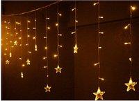 мигающие рождественские звезды оптовых-4М*0,8 м привело звезды занавес свет на Рождество свадьба украшения интерьера свет сосулька свет строки огни гирлянды.