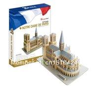 Wholesale Papercraft 3d - Wholesale-Notre Dame de Paris CubicFun 3D educational puzzle Paper & EPS Model Papercraft Home Adornment for christmas birthday gift