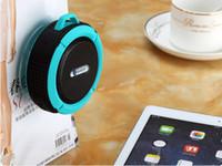 bluetooth su geçirmez hoparlörler ipx7 toptan satış-C6 IPX7 Açık Spor Duş Taşınabilir Su Geçirmez Kablosuz Bluetooth Hoparlör Vantuz Handsfree MIC Ses Kutusu iphone 6 iPad PC Için US07