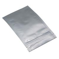 Wholesale foiled fabric - 7*13cm Pure Aluminum Foil Ziplock Bag Mylar Foil Grip Seal Zipper Seal ZipLock Food Storage Package Pouch Smell Proof Bags