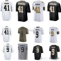 New Orleans Men 9 Drew Brees 41 Alvin Kamara Cheap Sale Embroidery Logos Top quality Spedizione gratuita