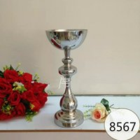 Wholesale Crystal Ball Holder Stand - Wedding decoration mental flower bolw Centerpieces For Wedding 19 Table