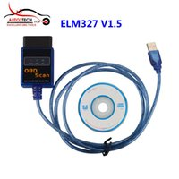 Wholesale Toyota Canbus - ELM327 Plastic OBDII EOBD CANBUS Scanner V1.5 with 2102 Chip ELM327 USB Diagnostic Scanner High Quality Free Shipping
