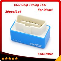 20pcs / lot EcoOBD2 Conector Car Chip Tuning Box 15% combustível salvar Plug and Drive OBD2 ECU Remaping para carros Diesel Baixo consumo de combustível Emissão mais baixa