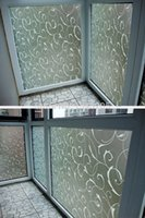 Wholesale Windows Clings - 45x100cm PVC Home Frosted Sticker Glass film Privacy Scroll Flower Removeable Window Cling Self Adhesive Film switchable Frosted