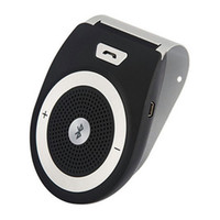 Wholesale Car Bluetooth Microphone Speaker - New T821 Bluetooth Car Kit With Microphone Bluetooth Speaker Hands Free Speakerphone Music Player Car Mp3 For Samsung iPhone Free Shipping