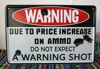 Wholesale Music Boards - A WARNING SHOT Warning board Vintage Music Poster Retro Painting Picture Cafe Bar Iron Metal Mural Wall Sticker Home Art Decor Tin sign