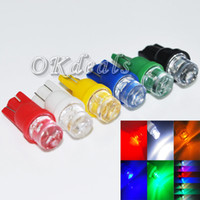 Wholesale 10PCS Long lasting V T10 W5W Car LED Inverted Side Wedge Bulbs Lamps Colors Choice