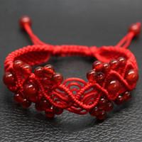 Wholesale Red Loom Bands Wholesale - Wholesale Handmade Knitted Bracelets,Red Agate Bracelet,Lovers Red String Bracelet,Charm Bracelet,Loom Bands Bracelet,Wedding Bracelet CN333