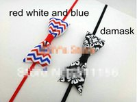 "Wholesale Ordering Elastic For Headbands - 30% off Trial Order 24pcs lot 1 8"" SKinny Elastic Christmas Headband with Chevron Bow Headband Hair Accessory for baby and children"