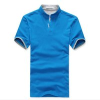 Wholesale Mens Shirts China - Wholesale Cheap China Clothes Mens Polo Shirt Solid Custom Logo Uniforms Breathable Short Sleeve Men Polos Calcetines Hombre
