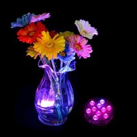 Wholesale Party Supplies Submersible Light Remote - RGB Remote Control LED Submersible Light Waterproof Candle Light Vases Base Decorative Lights For Valentine's Day Xmas Party Decoration