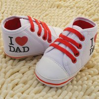 Wholesale Shoes For Girl Low Prices - Wholesale-Hot Lowest Price High-quality Newborn shoes Love Dad and Mom comfortable toddler shoes baby shoes for girls and boy