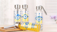Wholesale Despicable Glasses - 2015 new !!! 400ML Despicable Me2 water bottle with the retail packing, glasses bottle,creative bottle 17*5.5cm 253G