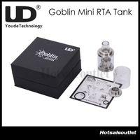 ud tanks groihandel-Riesige Lager jetzt !! UD Youde Goblin Mini RTA Zerstäuber Tank 3ml Luftstromsteuerung Edelstahl Wiederherstellbarer Zerstäuber 100% Original