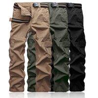 pantalon cargo taille 28 pour hommes achat en gros de-Plus la taille 28-38 pantalons de cargaison des hommes kaki de haute qualité occasionnels camouflage mens pantalons de poche multi longues armée militaire travail pantalons