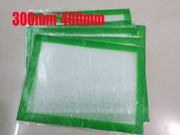 Wholesale Pat Mat - Silicone Wax pats with 300mm*400m square sheets pads mats silicon container dabber tool for dry herb jars dab dry herb wax atomiz