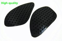Wholesale Honda Cbr Gas Tank Protectors - Black Motorcycle Stickers Tank Traction Pad Side Gas Knee Grip Protector 3M For Honda CBR 600 1000 RR CB400 QJC2097