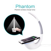 Wholesale Modern Wedges - Nillkin QI Wireless Charger Phantom Table Lamp Desk Top LED Light Charging for Iphone 8 8Plus Samsang S8 S8 Plus S7 Edge S6 Note 5