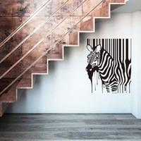 ingrosso adesivi 3d vivaisti-elefanti adesivi murali vivaio decorazione della casa pittura adesivi murali zebra rimovibile a buon mercato Africa animale casa decalcomania arredamento in camera da letto