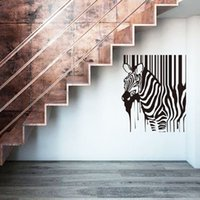 Wholesale Cheap Nursery Decorations - elephant nursery wall stickers home decoration painting zebra wall stickers removable cheap Africa animal house decor decal in bedroom