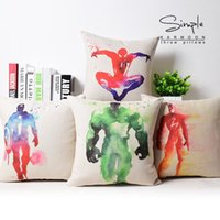 Wholesale Batman Throw - Hulk pillow cover, Avengers Captain America Thor iron man batman spiderman superman Flash throw pillow case wholesale