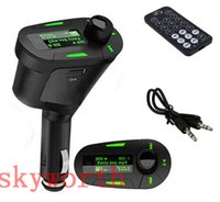 Wholesale Mmc Slot - LCD Car Kit MP3 Mucsic Player Wireless FM Transmitter Radio Modulator With USB SD MMC Slot + Remote