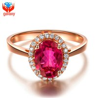 Wholesale Diamond Red Ruby Ring - Elegant Aristocrat Trendy 18K Rose Gold Plated Jewelry Ring High Quality Red Cubic Zirconia Diamond Ruby Wedding Rings for Women ZR025