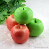 Wholesale Green Apple Decor - Home decor Large size green apple artificial simulation apple fake Fruit Wedding Party House Decoration photography props home ornaments