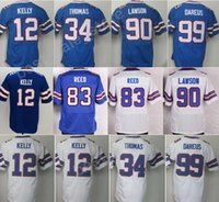 Color Rush 12 Jim Kelly Jersey Uomo Vapor Blue White 99 Marcell Dareus 90 Shaq Lawson 34 Thurman Thomas Jerseys Sport cucita 83 Ander Reed