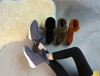 Wholesale Rabbit Fur Tanning - 2017 Hot Fashion Warm Winter Boots Rabbit Haor Women Thick Platform Shoes Woman Casual Slip-On Ankle Boots Size 35-39