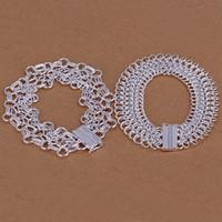 Wholesale Net Factory - High grade 925 sterling silver Net ladder, centipede bracelet jewelry set DFMSS209 brand new Factory direct 925 silver bracelet