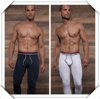 Wholesale Men Pouch Leggings - Wholesale-Men keep warm tight leggings Johns stereo gathered pouch design Have more type and more comfortable Man long Johns warm trousers