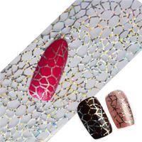 Wholesale Glitter Nail Wraps - Glitter Nail Sticker Decal Nail Art Full Tips Wraps DIY Cobweb Sexy Nail Foils Transfer Polish Adhesive Sticker Nail Decals