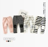 Wholesale Boys Add - INS 4 color NEW ARRIVAL autumn winter Korean style Stripe patch Add poil pants boy and girls pants free shipping