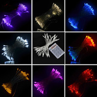 Wholesale Purple Christmas Stockings - in stock ship Christmas lights 5M 50 led battery led string light 3pcs AA Battery Operated Fairy Party Wedding Christmas Flashing LED strips