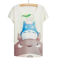Wholesale Chinchilla Size - FG1509 Chinchilla Family cartoons 3D digital print short sleeve women's t shirt free size slimming t shirts women free shipping