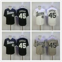 Wholesale Vintage Road - Cheap Mens Birmingham Barons #45 Michael MJ White Retro pullover gray road black vintage stitched baseball Jerseys S-3XL