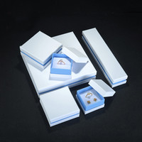 Wholesale good quality ring bracelet for sale - Top Bottom Paper Box Jewelry Gift Packaging Cases White Ring Earring Bracelet Necklace Present Give Away Boxes Good Quality