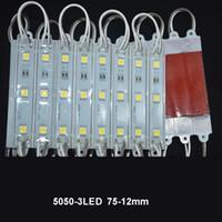 led módulo cool white venda por atacado-SMD 5050 Módulos LED À Prova D 'Água IP65 Módulos De Led DC 12 V SMD 3 Leds Sinal Led Backlights Para Letras de Canal Fresco Branco Vermelho Azul