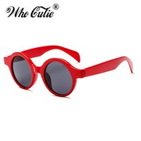 Wholesale Smallest Round Men Sunglasses - WHO CUTIE 2017 Small Round Red Sunglasses Women Brand Designer Vintage Retro Circle frame Lady Sun Glasses Shades oculos OM469