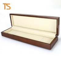 Wholesale rectangular box wood - High-end rectangular watch box Luxury Brown wooden box business gift boxes jewelry collection box customized brand Spot wholesale free ship